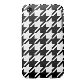 Caso del iPhone 3 de Houndstooth Funda Para iPhone 3 De Case-Mate