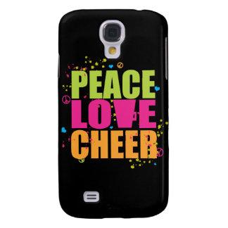 Caso del iPhone 3 de la alegría del amor de la paz Funda Para Samsung Galaxy S4