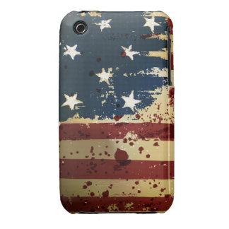 Caso del iPhone 3 de la bandera de Pariotic del iPhone 3 Case-Mate Protectores