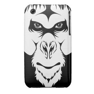 Caso del iPhone 3 de la cara del mono iPhone 3 Cárcasa