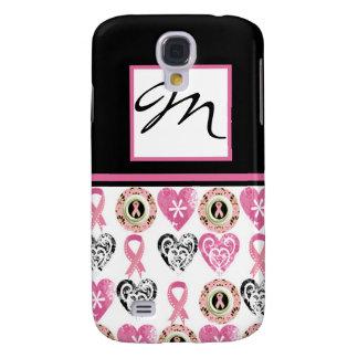 Caso del iPhone 3 de la conciencia del cáncer de p Funda Para Galaxy S4