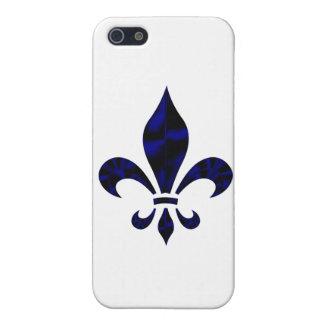 Caso del iphone 3 de la flor de lis iPhone 5 carcasas