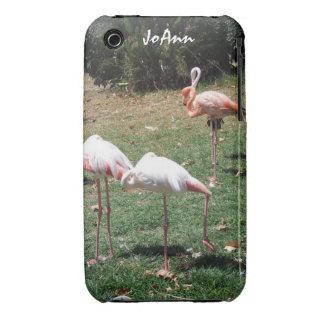 Caso del iPhone 3 de la fotografía del flamenco iPhone 3 Case-Mate Cárcasas