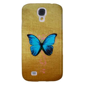 Caso del iphone 3 de la mariposa de la arpillera