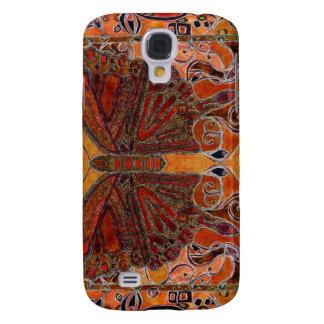 caso del iphone 3 de la mariposa del art déco (pin funda para galaxy s4