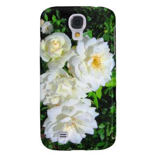 Caso del iPhone 3 de la mota de los rosas blancos Funda Para Galaxy S4