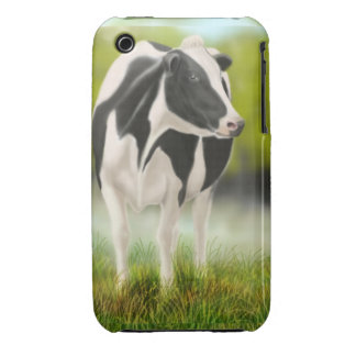Caso del iPhone 3 de la vaca de leche de Holstein Funda Bareyly There Para iPhone 3 De Case-Mate