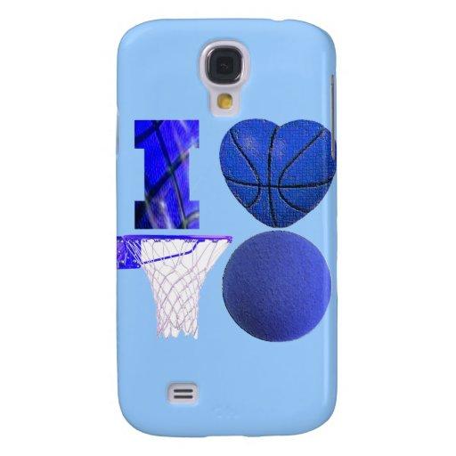 Caso del iPhone 3 de los amantes del baloncesto Funda Para Galaxy S4