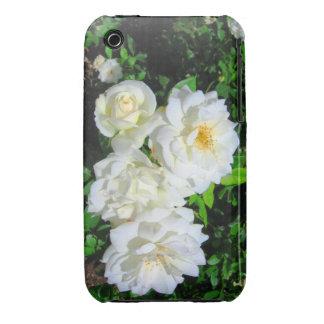 Caso del iPhone 3 de los rosas blancos iPhone 3 Case-Mate Protectores