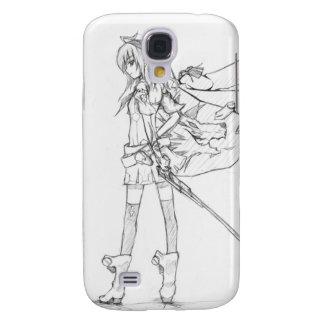 caso del iphone 3 del bosquejo del chica del manga