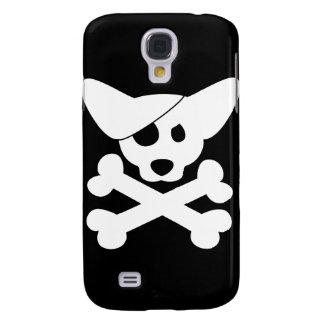 Caso del iPhone 3 del cráneo y de la bandera pirat Funda Para Galaxy S4