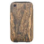 Caso del iPhone 3 del final de Bocote (madera) Tough iPhone 3 Fundas