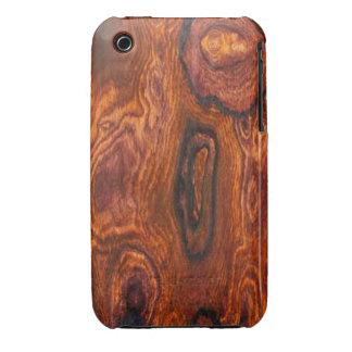 Caso del iPhone 3 del final de Cocobolo (madera) Case-Mate iPhone 3 Coberturas