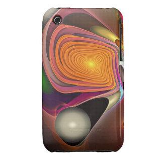 Caso del iPhone 3 del fractal que remolina iPhone 3 Cobertura