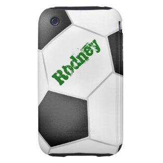 Caso del iPhone 3 del fútbol Tough iPhone 3 Cárcasa