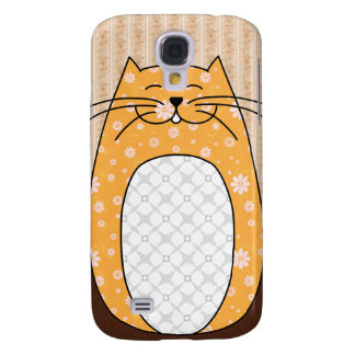 Caso del iPhone 3 del gato anaranjado