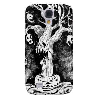 Caso del iPhone 3 del Halloween-Árbol Funda Para Galaxy S4