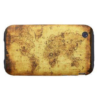 Caso del iPhone 3 del mapa de Viejo Mundo de los A iPhone 3 Tough Cárcasas