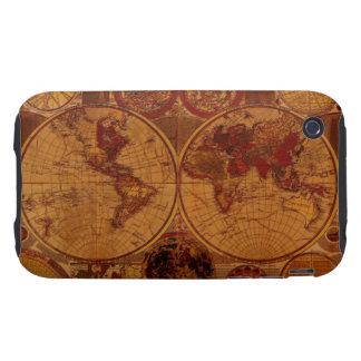 Caso del iPhone 3 del mapa de Viejo Mundo iPhone 3 Tough Coberturas