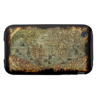 Caso del iPhone 3 del mapa de Viejo Mundo iPhone 3 Tough Cárcasas