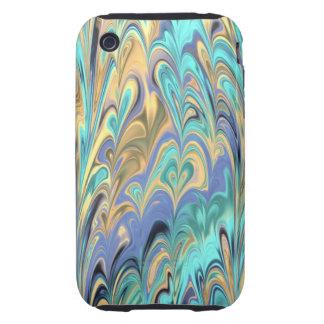 caso del iPhone 3 del modelo del papel veteado Carcasa Resistente Para iPhone