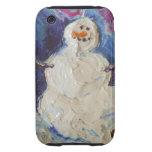 Caso del iPhone 3 del muñeco de nieve del invierno Tough iPhone 3 Coberturas