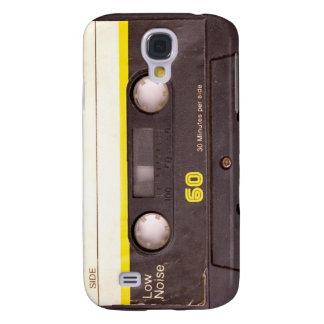 Caso del iPhone 3 del negro de la cinta de casete Carcasa Para Galaxy S4