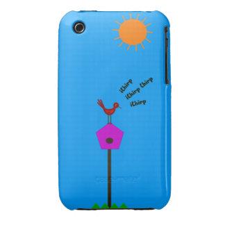 Caso del iPhone 3 del pájaro que gojea rojo Case-Mate iPhone 3 Protector