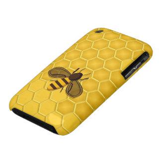 Caso del iPhone 3 del panal y de la abeja del oro iPhone 3 Case-Mate Fundas