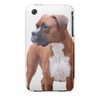 Caso del iPhone 3 del perro del boxeador Case-Mate iPhone 3 Carcasa