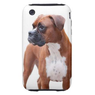Caso del iPhone 3 del perro del boxeador iPhone 3 Tough Fundas