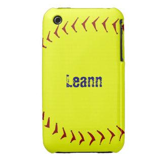 Caso del iPhone 3 del softball de Fastpitch iPhone 3 Case-Mate Cobertura