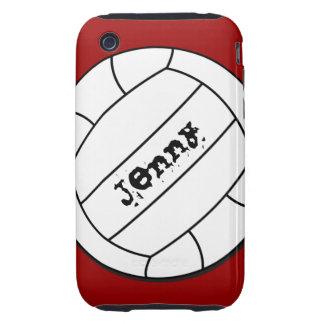 Caso del iPhone 3 del voleibol iPhone 3 Tough Fundas