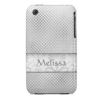 Caso del iPhone 3g/3gs de Bling del diseñador: Pla iPhone 3 Case-Mate Cobertura