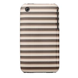 Caso del iPhone 3G/3Gs de Brown de las rayas iPhone 3 Cobertura