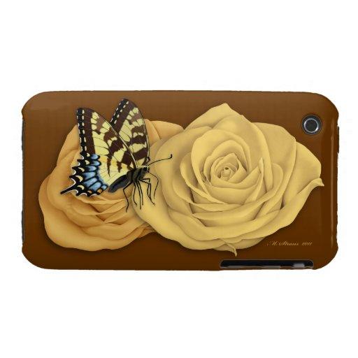 Caso del iPhone 3G/3GS de la naturaleza (rosas, Case-Mate iPhone 3 Coberturas