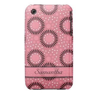Caso del iPhone 3g/3gs de las flores de los lunare Case-Mate iPhone 3 Protectores