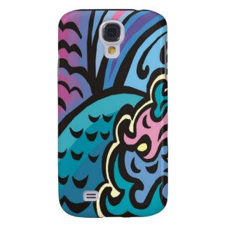 Caso del iPhone 3G/3GS de las olas oceánicas Funda Para Galaxy S4