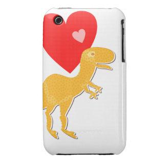 Caso del iPhone 3G/3GS del amor del dinosaurio de Case-Mate iPhone 3 Cobertura