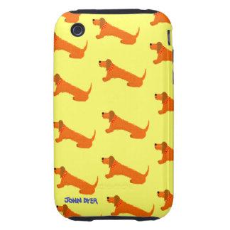 Caso del iPhone 3G 3GS del arte Perro de salchich iPhone 3 Tough Protector