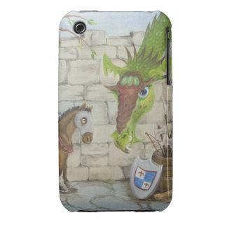 Caso del iPhone 3G/3GS del dragón y del caballo Funda Para iPhone 3