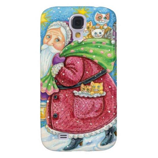Caso del iPhone 3G/3GS del navidad de Papá Noel de Funda Para Galaxy S4