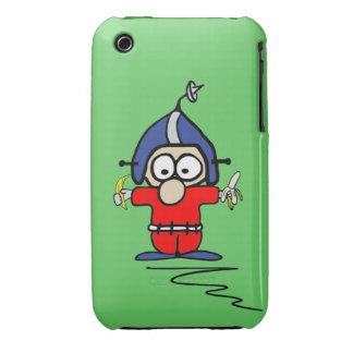 Caso del iPhone 3G de Fred Pinsocket (verde) Case-Mate iPhone 3 Cárcasas