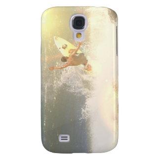 Caso del iPhone 3G de la persona que practica surf Funda Para Galaxy S4