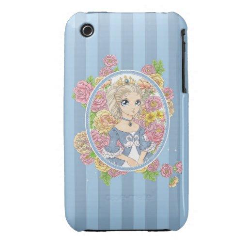 Caso del iPhone 3G de la princesa del cisne (azul) iPhone 3 Case-Mate Cobertura
