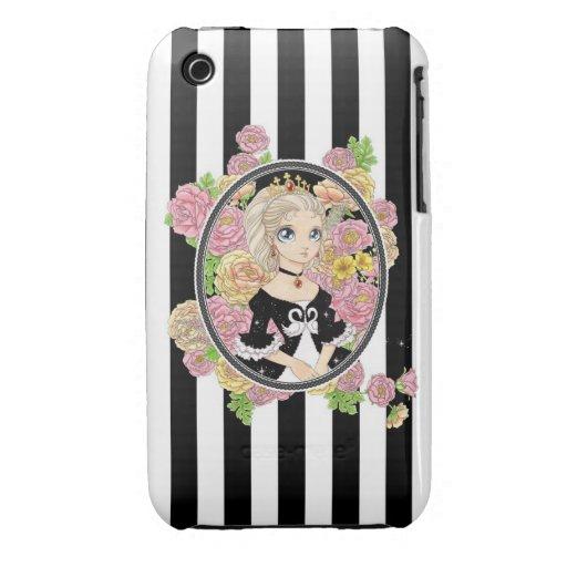 Caso del iPhone 3G de la princesa del cisne (negro iPhone 3 Case-Mate Fundas