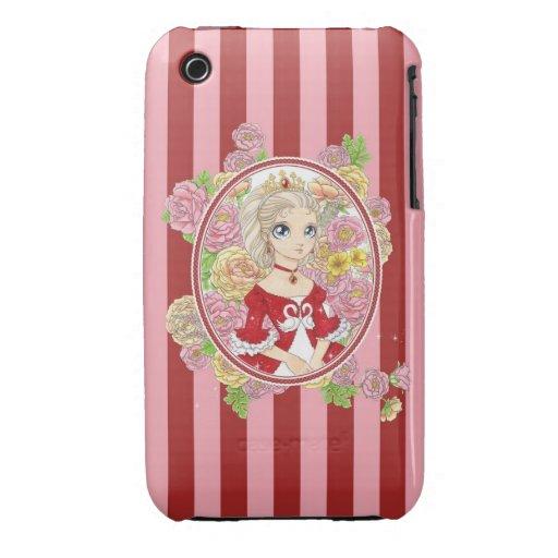Caso del iPhone 3G de la princesa del cisne (rojo) Case-Mate iPhone 3 Fundas