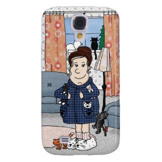 """Caso del iPhone 3G """"de la señora loca del gato"""" Funda Para Galaxy S4"""