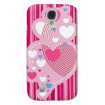 Caso del iphone 3G de los corazones de la tarjeta