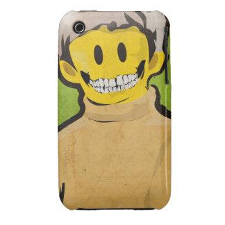 Caso del iPhone 3g del cráneo de la sonrisa Case-Mate iPhone 3 Cárcasas